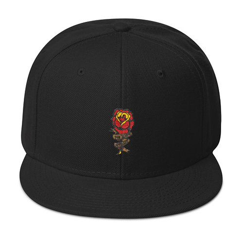 Rose Embroidery Snapback