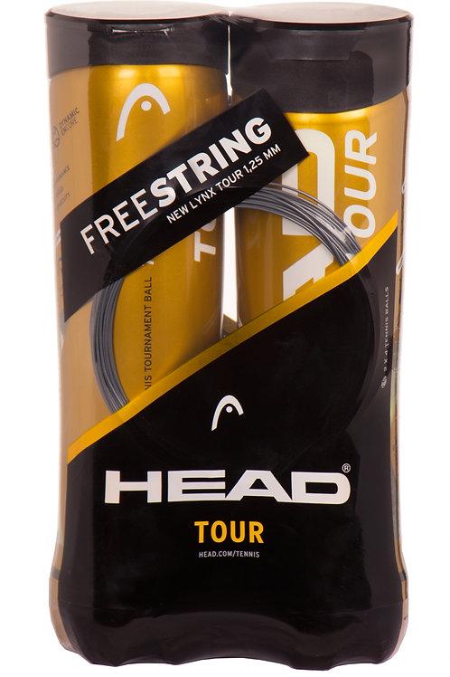 Head Tour 4-Ball-Dose Doppelpack + Free Lynx Tour Saite