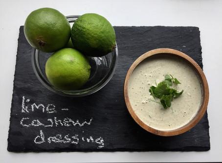 Lime-cashew dressing