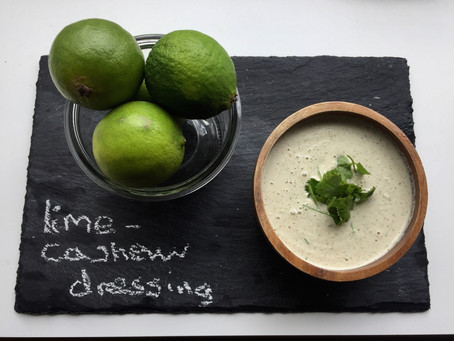 Lime-cashew dressing