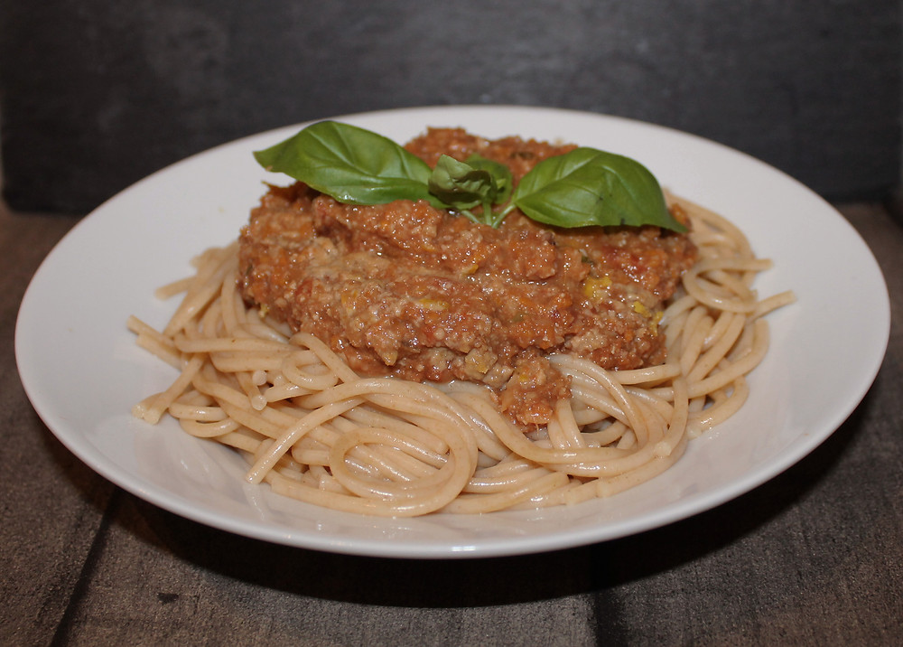 Spaghetti plantesovs - plantebaseret spaghetti kødsovs