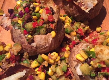 Bagte kartofler med mexikansk fyld