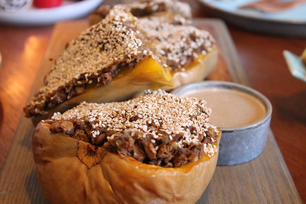 Bagt butternut squash - plantebaseret og vegansk julemad