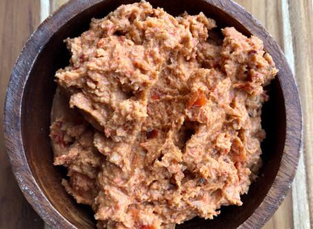 Humus med bagte peberfrugter