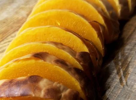 Saftige butternut squashskiver