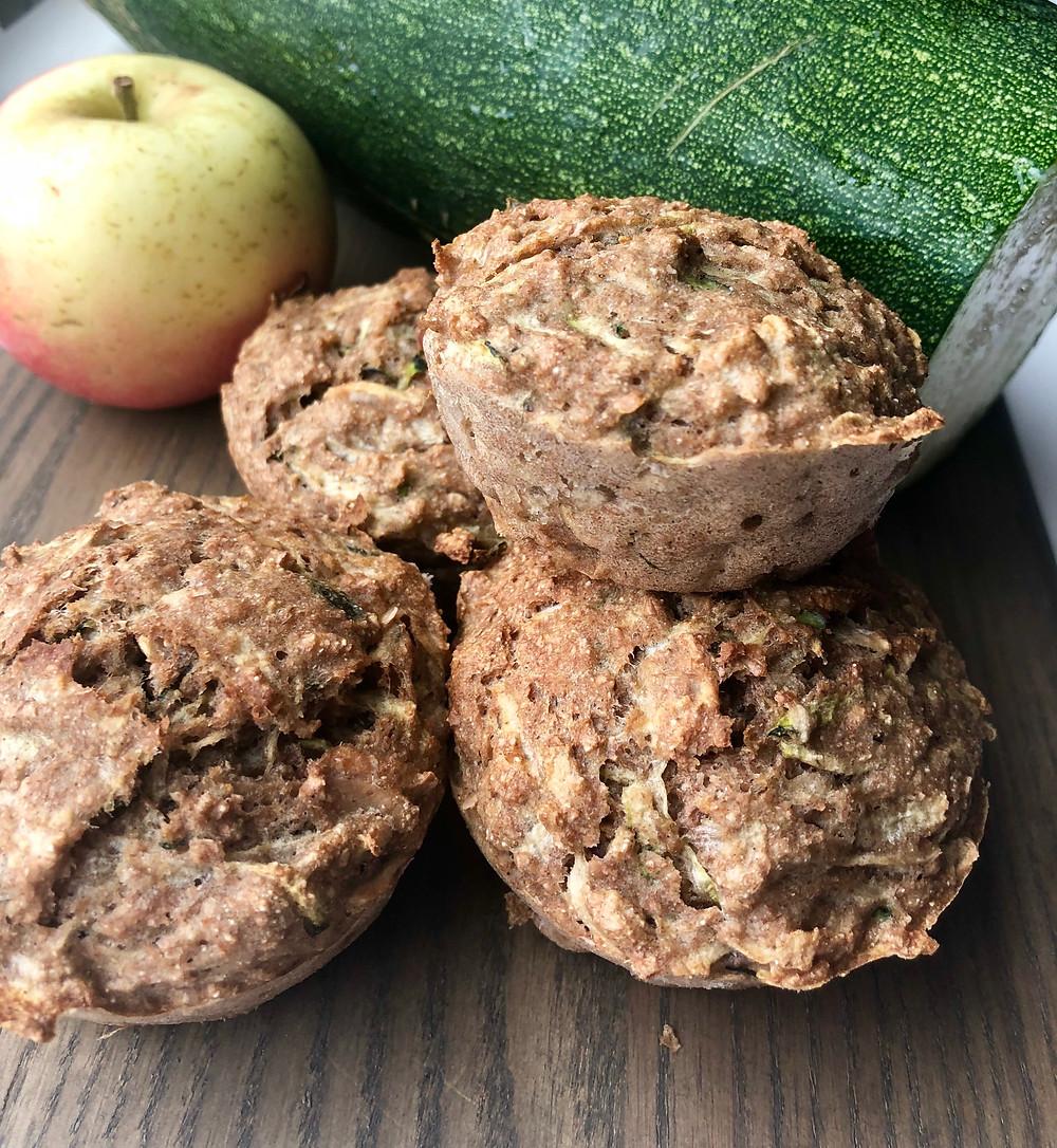 Muffins med squash og æble