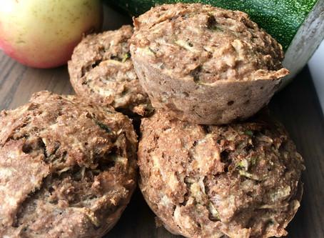 Fuldkornsmuffins med squash og æble