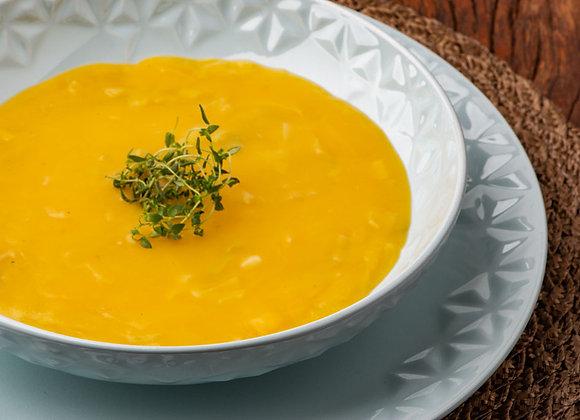 Sopa de mandioquinha com alho poró - 400 g - Serve 1