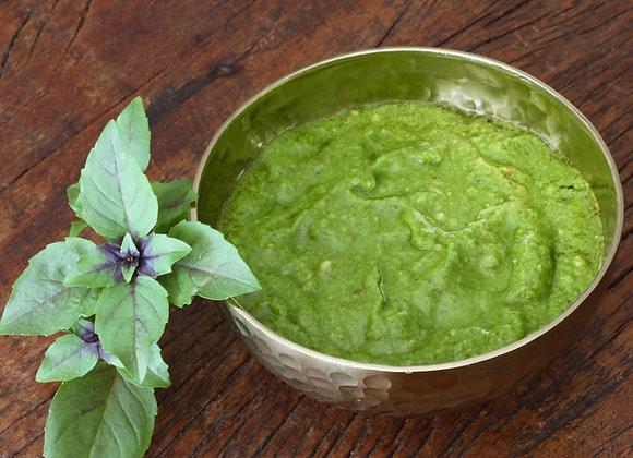Pesto de rúcula com amêndoas e castanha do Pará - 150 g - Serve 4