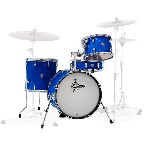 "GRETSCH DRUMS CT1-J484-BSF - CATALINA CLUB 18"" 3 FUTS BLUE SATIN FLAME"