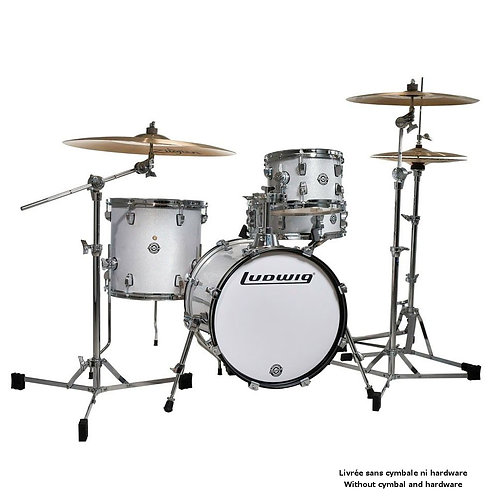 LUDWIG DRUMS LC179XO28 - KIT BREAKBEATS QUESTLOVE WHITE SPARKLE