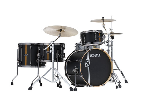 TAMA SUPERSTAR HYPER-DRIVE DUO 20/12/16/14 FLAT BLACK VERTICAL STRIPE ML40HZBN2-