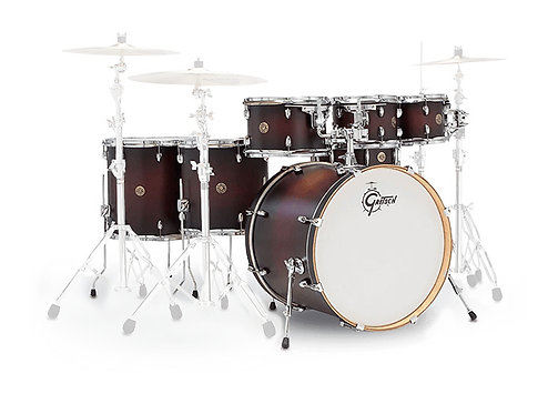 GRETSCH DRUMS CATALINA MAPLE 22/8/10/12/14/16/14SD SATIN DARK CHERRY BURST