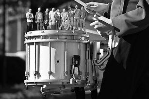indie drumStage Band Practice B&W