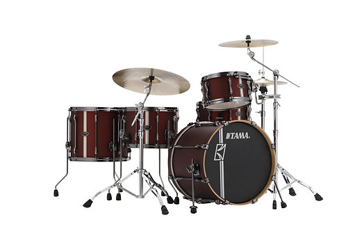 "TAMA SUPERSTAR HYPER-DRIVE DUO FUSION 20"" SATIN BURGUNDY VERTICAL STRIPE"