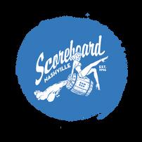 Scoreboard Blue Circle Background Logo (