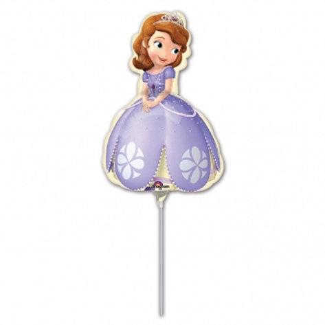 Individual Balloon on a stick Princess Sofia