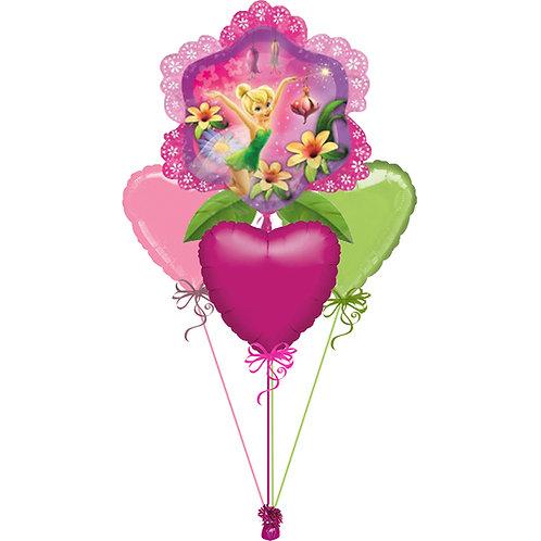 Tinkerbell Flower Shape Balloon Bunch