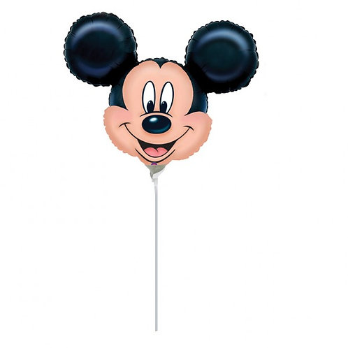 Individual Balloon on a stick Mickey Mouse