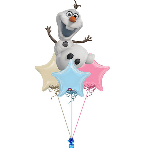 Olaf Frozen Balloon Bunch