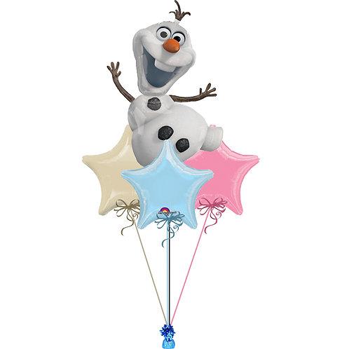 Olaf Frozen Balloon Bunch