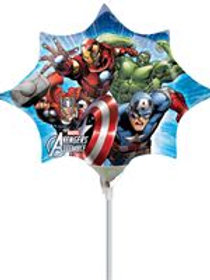 Individual Balloon on a stick Marvel Avengers