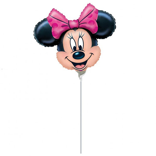 Individual Balloon on a stick Minnie Mouse