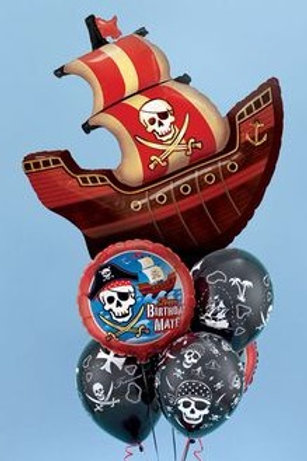 Pirate Galleon Balloon Bunch