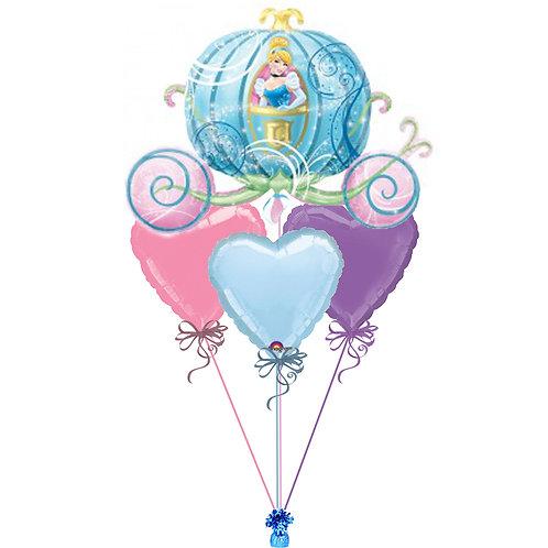 Cinderella Carriage Balloon Bunch