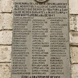 Saint Patrick's Battalion plaque