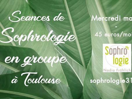 Prenez soin de vous !  Des séances de Sophrologie en groupe le Mercredi Matin à Toulouse !