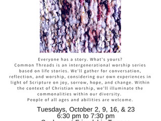 Common Threads: An Intergenerational Worship Series