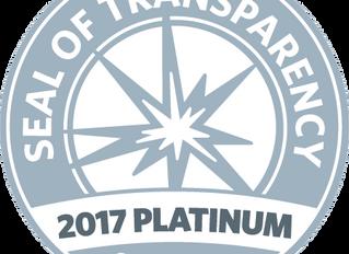 Seabury Awarded Platinum Seal of Transparency