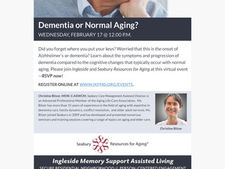 Care Management Presentation: Dementia or Normal Aging