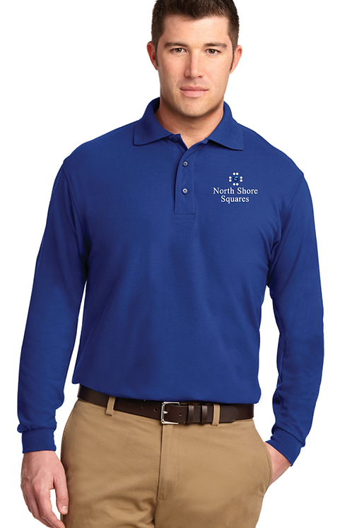 Mens Silk Touch Polo Shirt, long sleeve