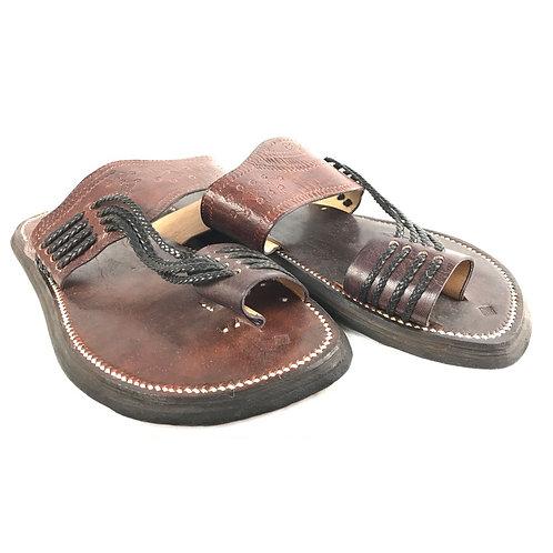 Men's Leather Sandal (brown)