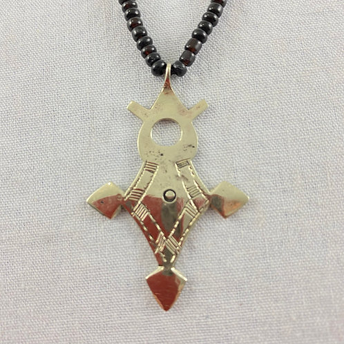 Cross of Agadez Necklace (Small), Style 3