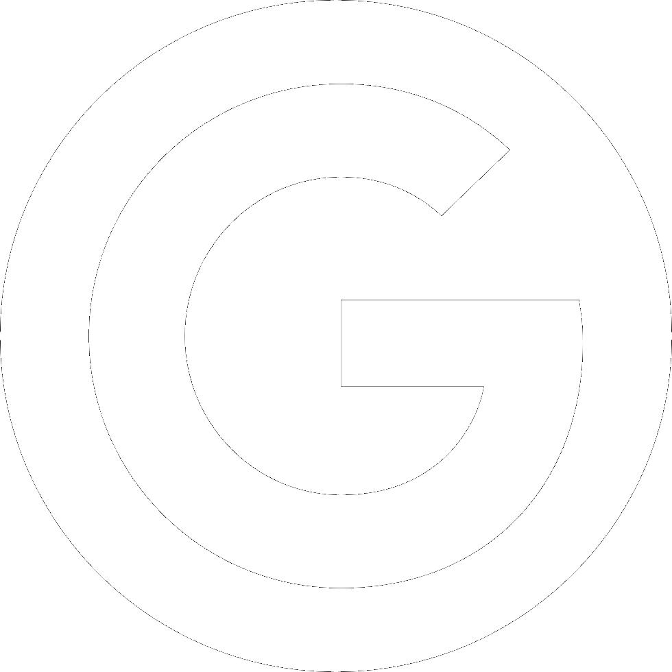 white circle G