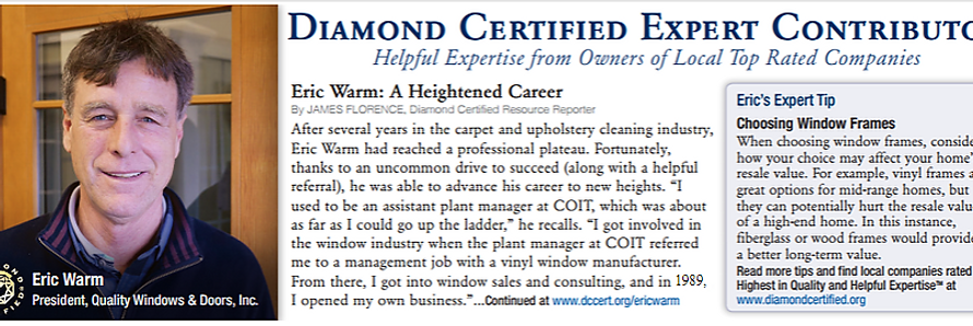 Eric Warm a diamond certified expert contributor