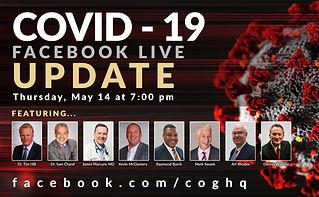 COVID - 19 RESPONSE UPDATE FACEBOOK LIVE BROADCAST