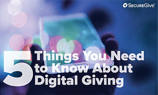 5 Things you need to know about digital giving