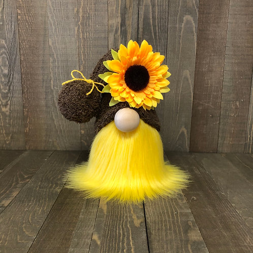 Fall Sunflower Tiered Tray Gnome