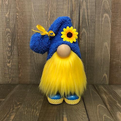 Blue Sunflower Gnome