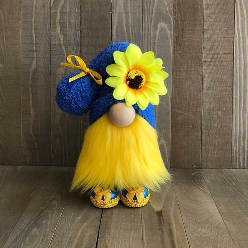 Blue Sunflower Gnome