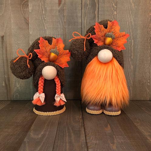 Fall Leaf Gnome Couple