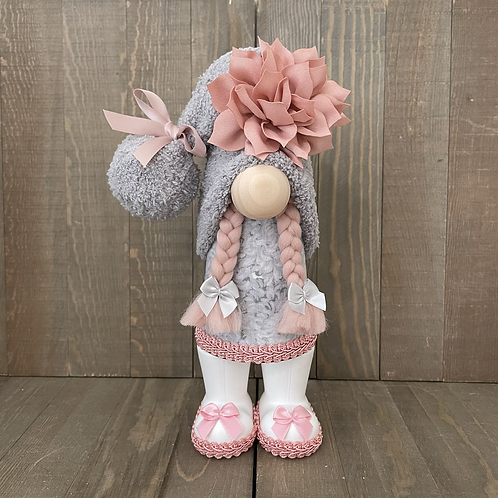 Pink & Gray Girl with Boots