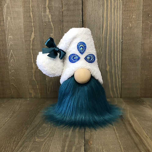Peacock Tiered Tray Gnome