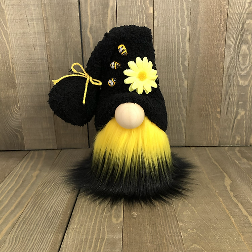 Black/Gold Bee Tiered Tray Gnome