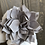 Thumbnail: Grey Flower Tall Tiered Tray Gnome