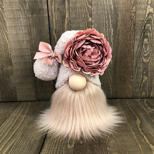 Blush Flower Tiered Tray Gnome